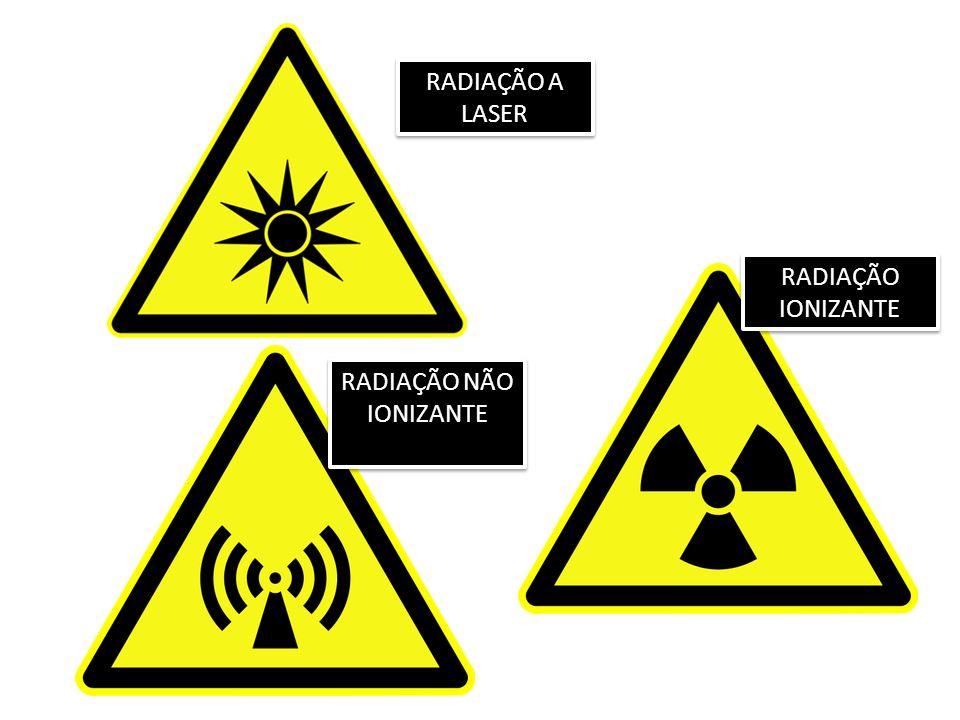 RADIAÇÃO IONIZANTE RADIAÇÃO NÃO IONIZANTE RADIAÇÃO A LASER