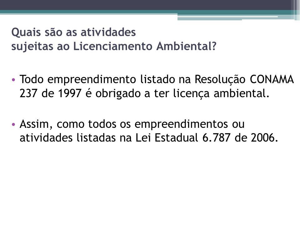 O Licenciamento Ambiental no Estado de Alagoas Quais projetos.