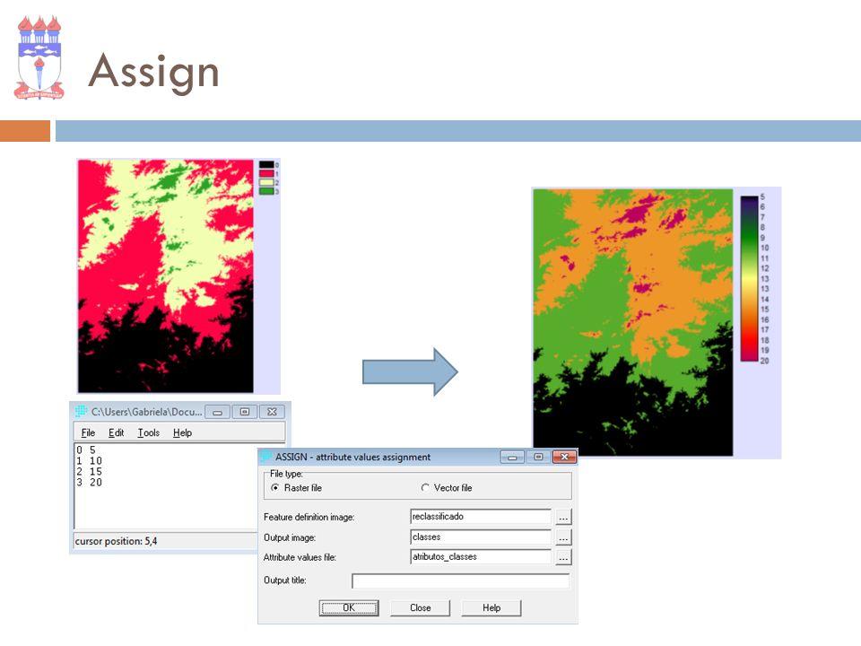 Distance Cria uma nova imagem onde o valor armazenado em cada célula é a menor distância entre ela e a feição mais próxima.