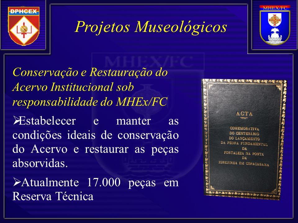 Conservação e Restauração do Acervo Institucional sob responsabilidade do MHEx/FC Estabelecer e manter as condições ideais de conservação do Acervo e
