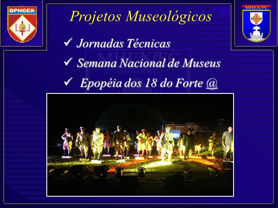 Projetos Museológicos Jornadas Técnicas Jornadas Técnicas Semana Nacional de Museus Semana Nacional de Museus Epopéia dos 18 do Forte @ Epopéia dos 18