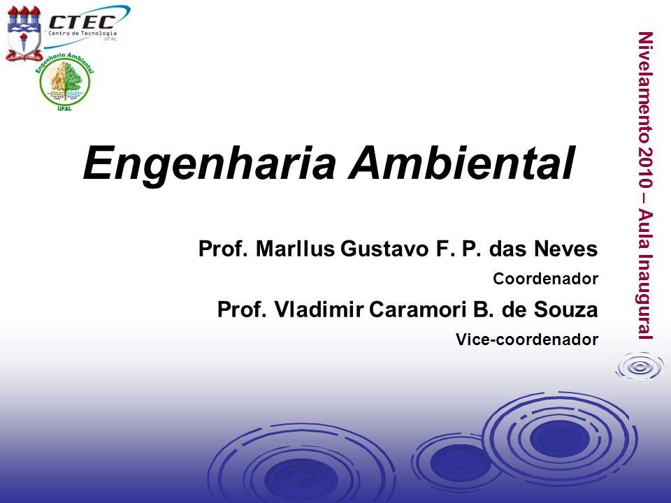 Nivelamento 2010 – Aula Inaugural Engenharia Ambiental Prof. Marllus Gustavo F. P. das Neves Coordenador Prof. Vladimir Caramori B. de Souza Vice-coor