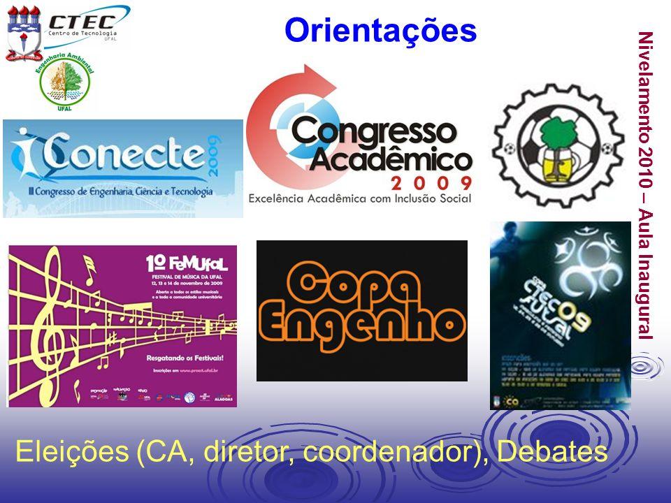Nivelamento 2010 – Aula Inaugural Orientações Eleições (CA, diretor, coordenador), Debates