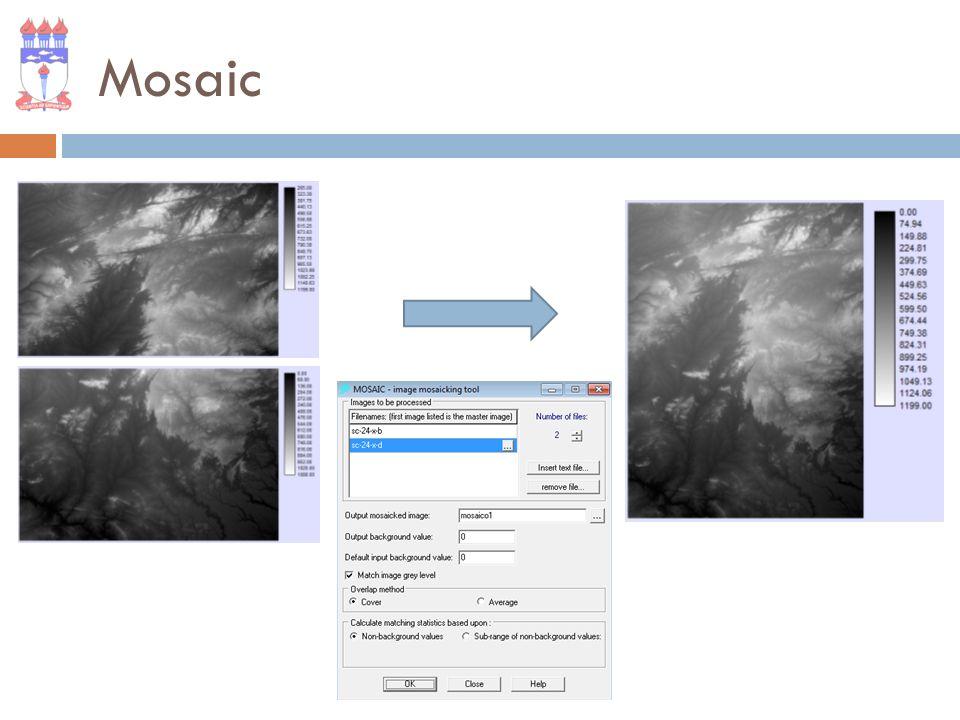 Reclass Reclassifica os valores de uma imagem ou vetor. Fonte: Adaptado de IDRISI Manual
