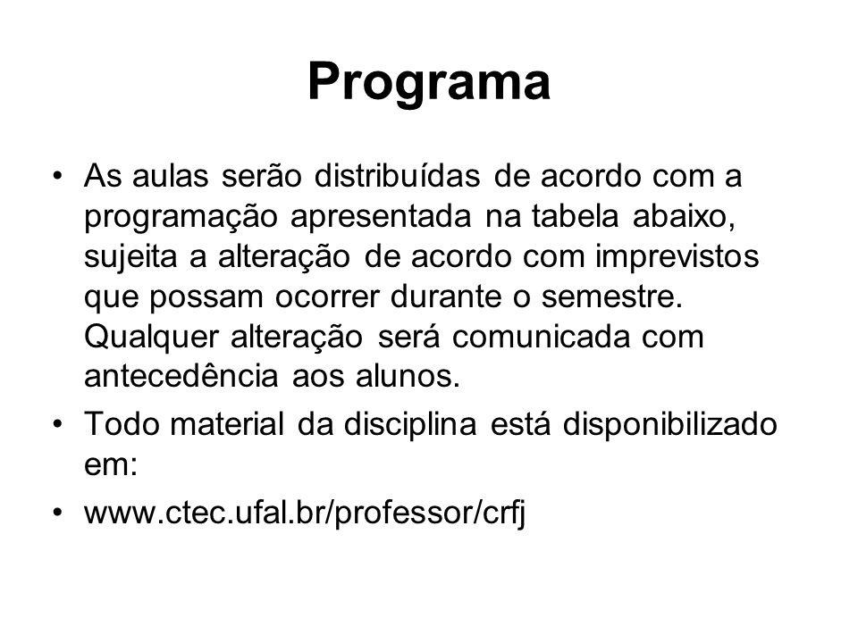 Programa do Curso 1.