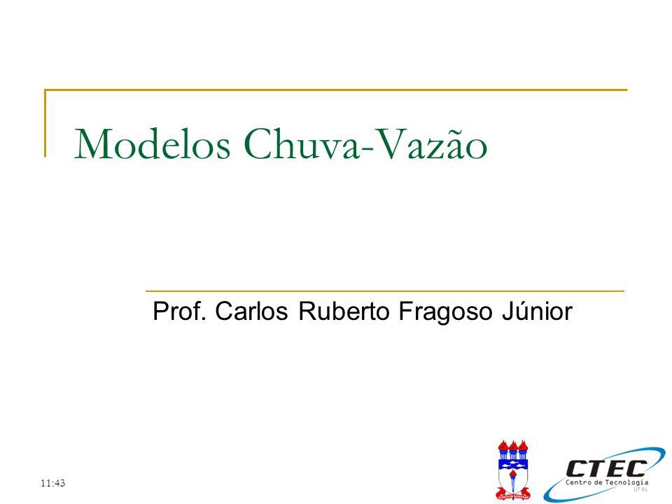 11:43 Modelos Chuva-Vazão Prof. Carlos Ruberto Fragoso Júnior