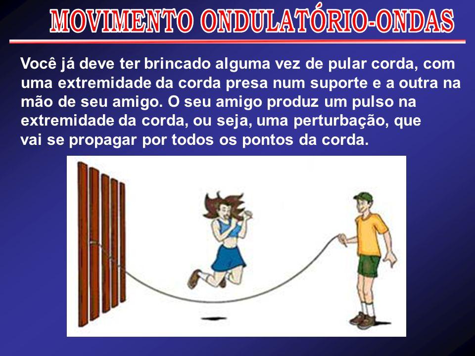 Você já deve ter brincado alguma vez de pular corda, com uma extremidade da corda presa num suporte e a outra na mão de seu amigo. O seu amigo produz