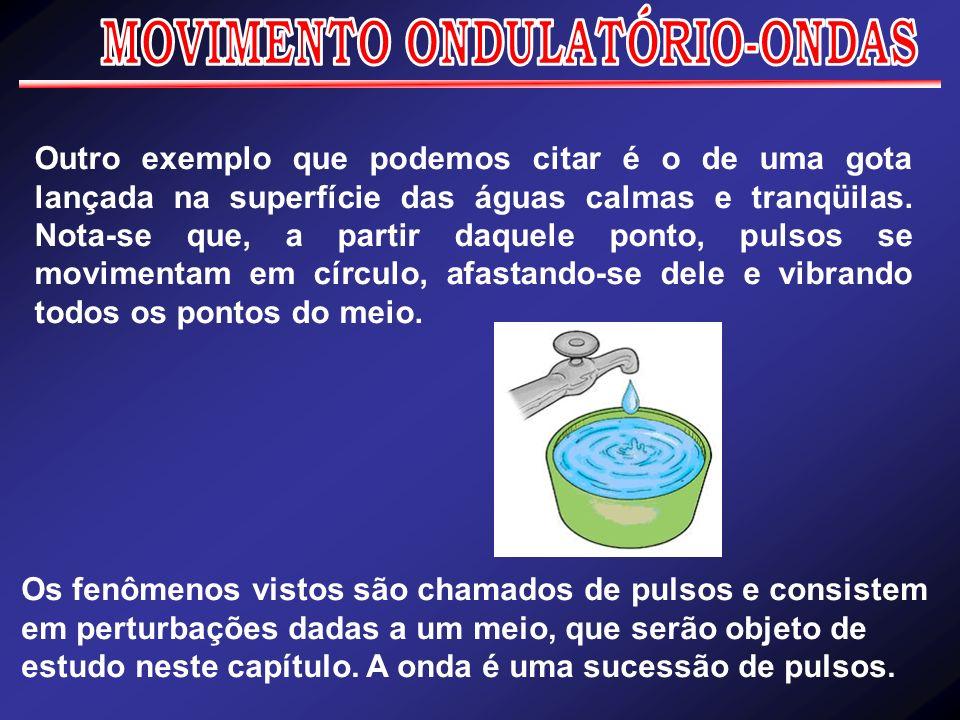 Ondulatória (ondas) Ondulatória é a parte da Física que estuda as ondas.