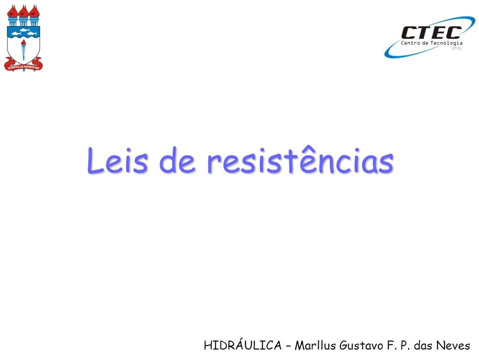 HIDRÁULICA – Marllus Gustavo F. P. das Neves Leis de resistências