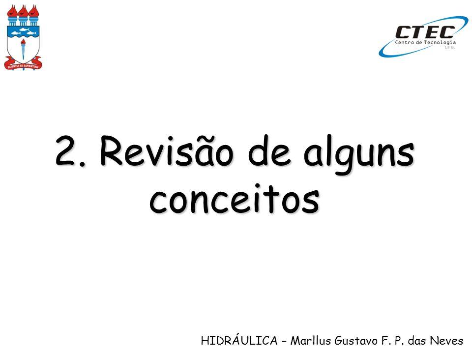 HIDRÁULICA – Marllus Gustavo F. P. das Neves 2. Revisão de alguns conceitos