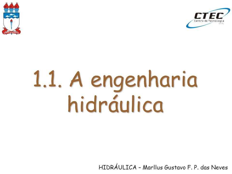 HIDRÁULICA – Marllus Gustavo F. P. das Neves 1.1. A engenharia hidráulica