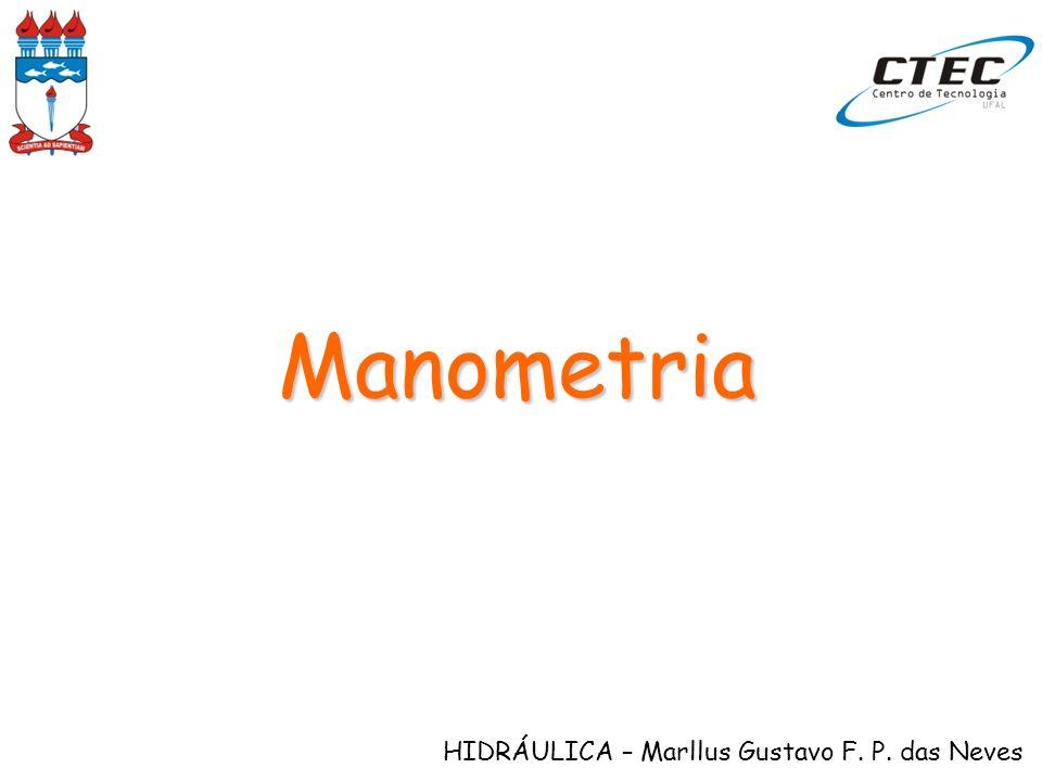 HIDRÁULICA – Marllus Gustavo F. P. das Neves Manometria