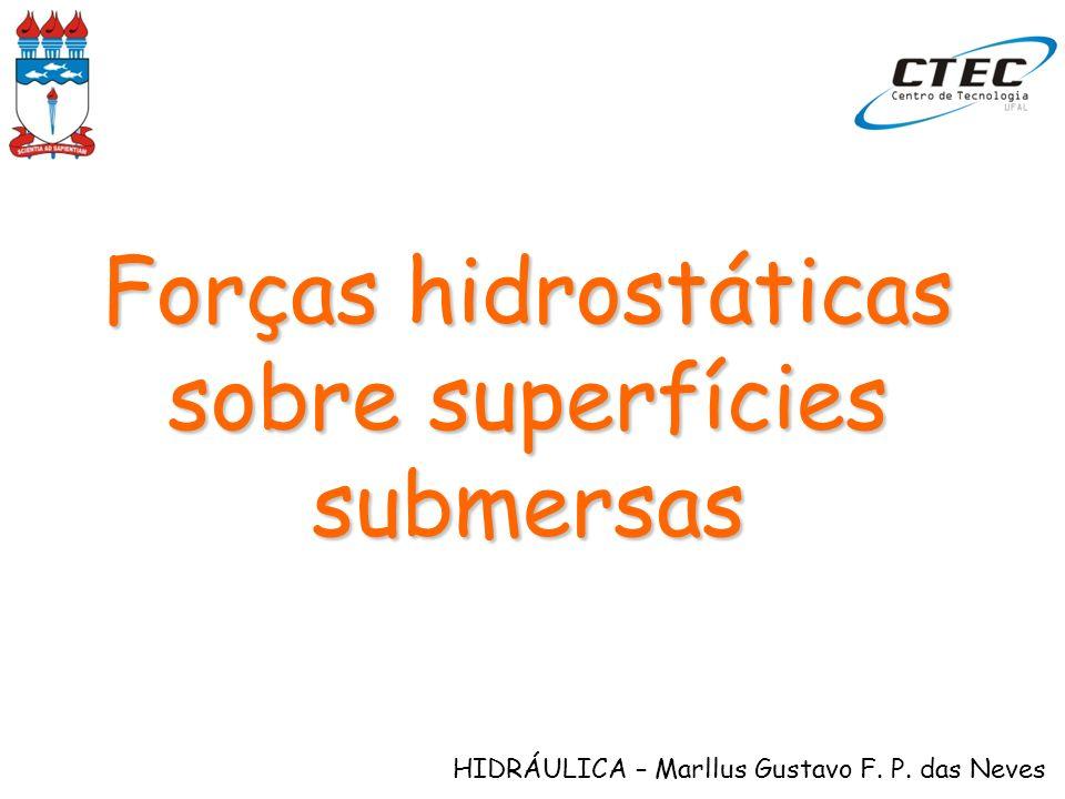 HIDRÁULICA – Marllus Gustavo F. P. das Neves Forças hidrostáticas sobre superfícies submersas