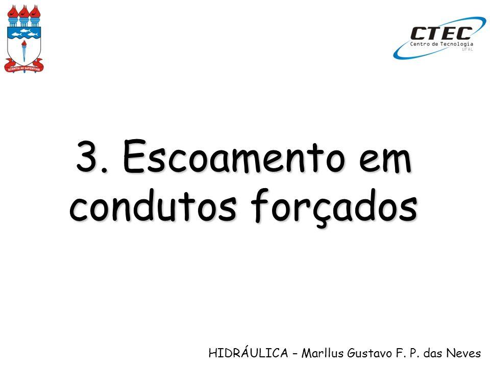 HIDRÁULICA – Marllus Gustavo F. P. das Neves 3. Escoamento em condutos forçados