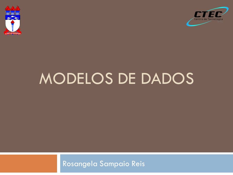 MODELOS DE DADOS Rosangela Sampaio Reis
