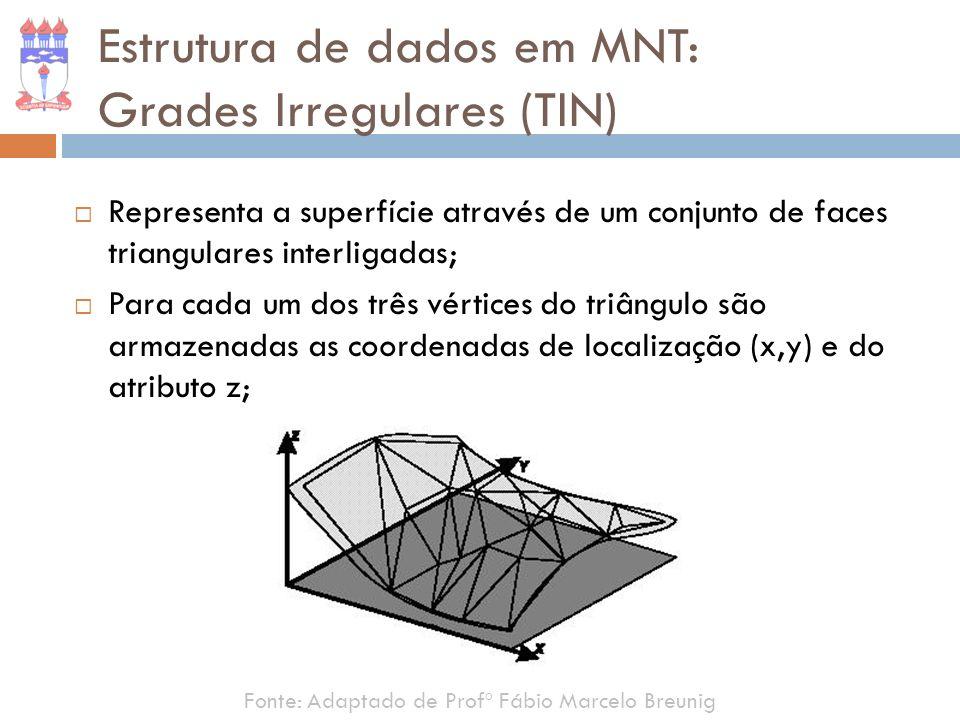 Representa a superfície através de um conjunto de faces triangulares interligadas; Para cada um dos três vértices do triângulo são armazenadas as coor