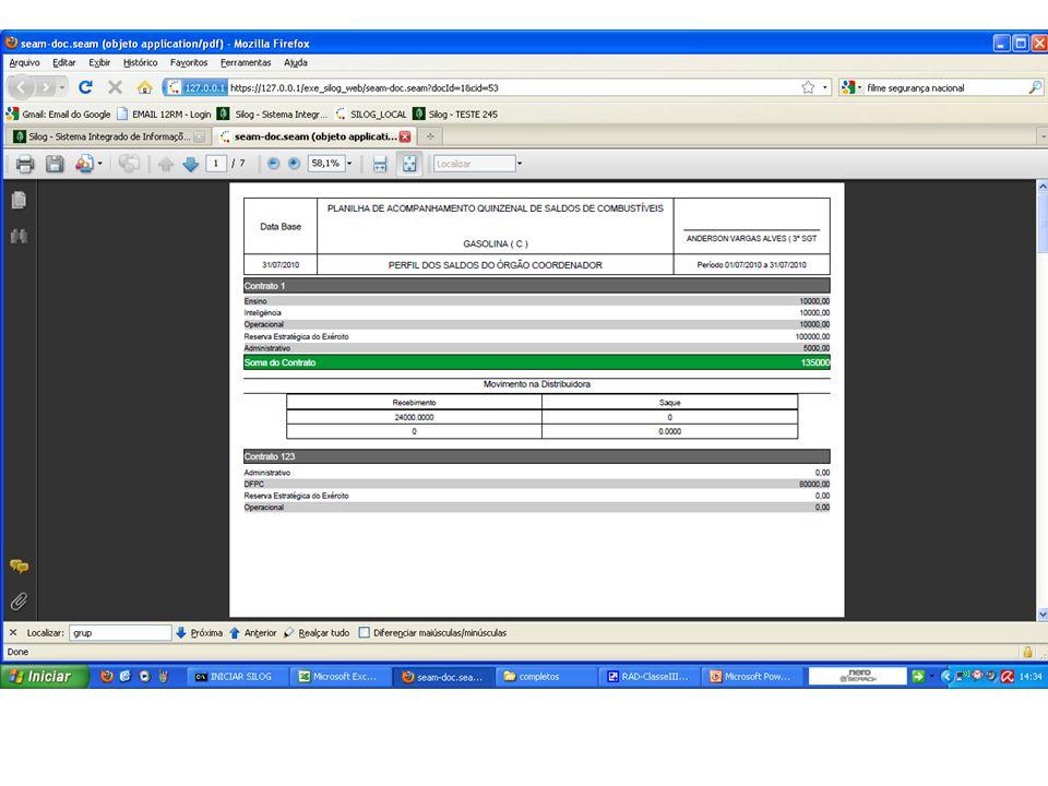 Pedido de Combustível - RM Clique para fazer um Novo pedido Campos para filtragem de pesquisa de pedidos