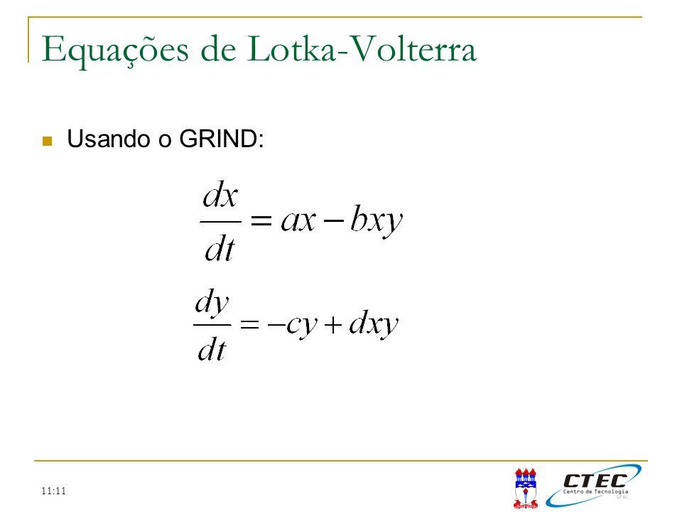 11:11 Usando o GRIND: Equações de Lotka-Volterra