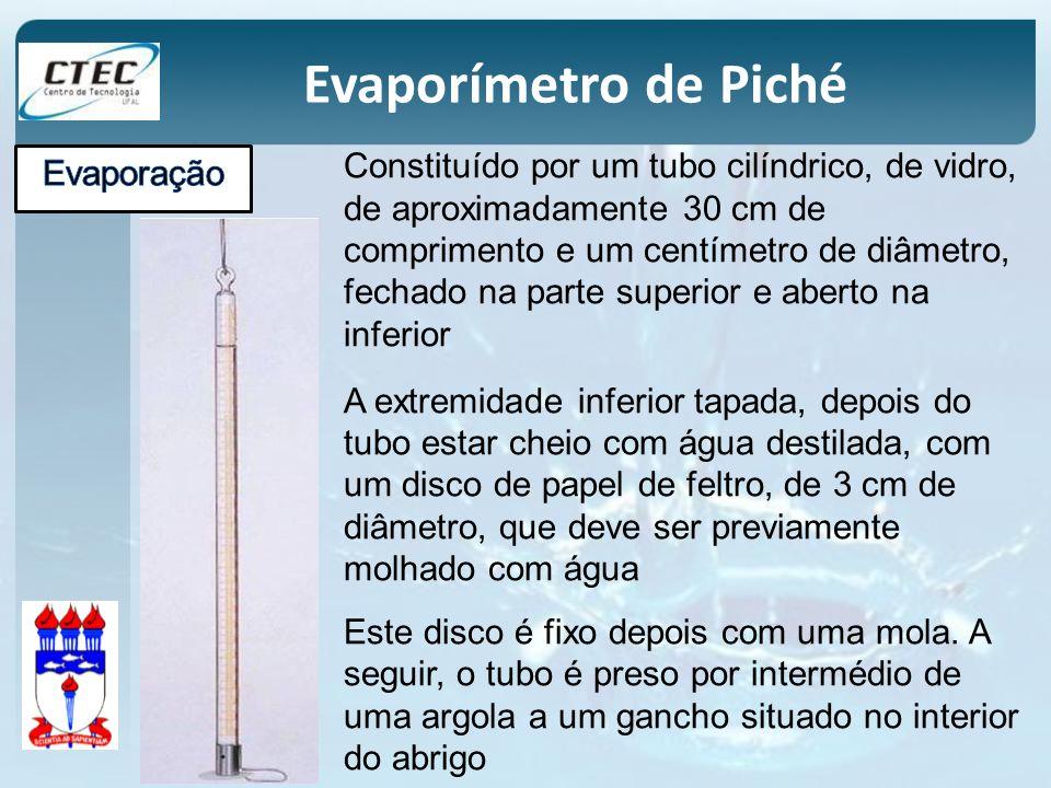Constituído por um tubo cilíndrico, de vidro, de aproximadamente 30 cm de comprimento e um centímetro de diâmetro, fechado na parte superior e aberto