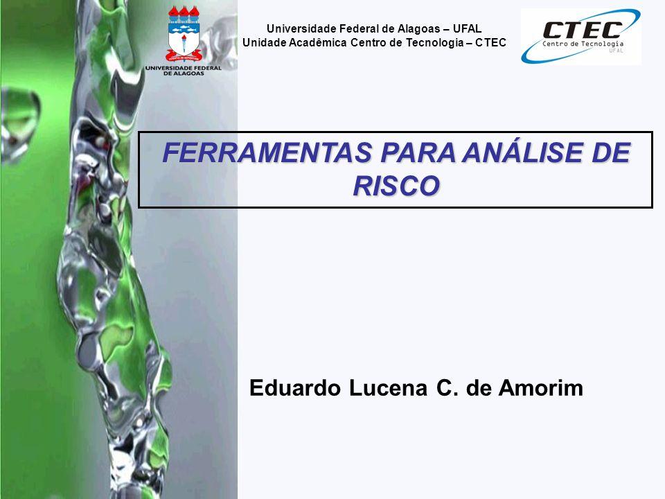 Eduardo Lucena C. de Amorim Universidade Federal de Alagoas – UFAL Unidade Acadêmica Centro de Tecnologia – CTEC FERRAMENTAS PARA ANÁLISE DE RISCO