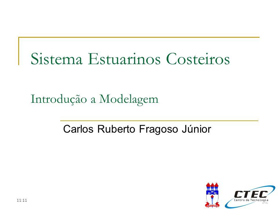 11:11 Sistema Estuarinos Costeiros Introdução a Modelagem Carlos Ruberto Fragoso Júnior
