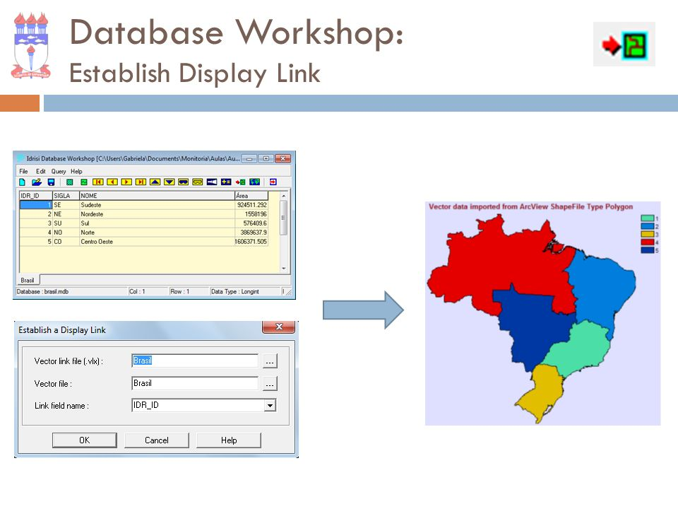 Database Workshop: Display Current Field as Map Layer