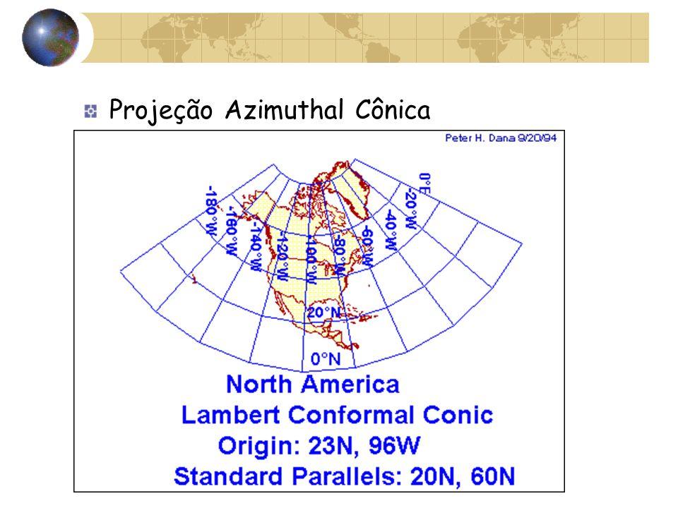 Projeção Azimuthal Cônica