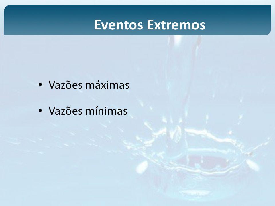 Vazões máximas Vazões mínimas Eventos Extremos