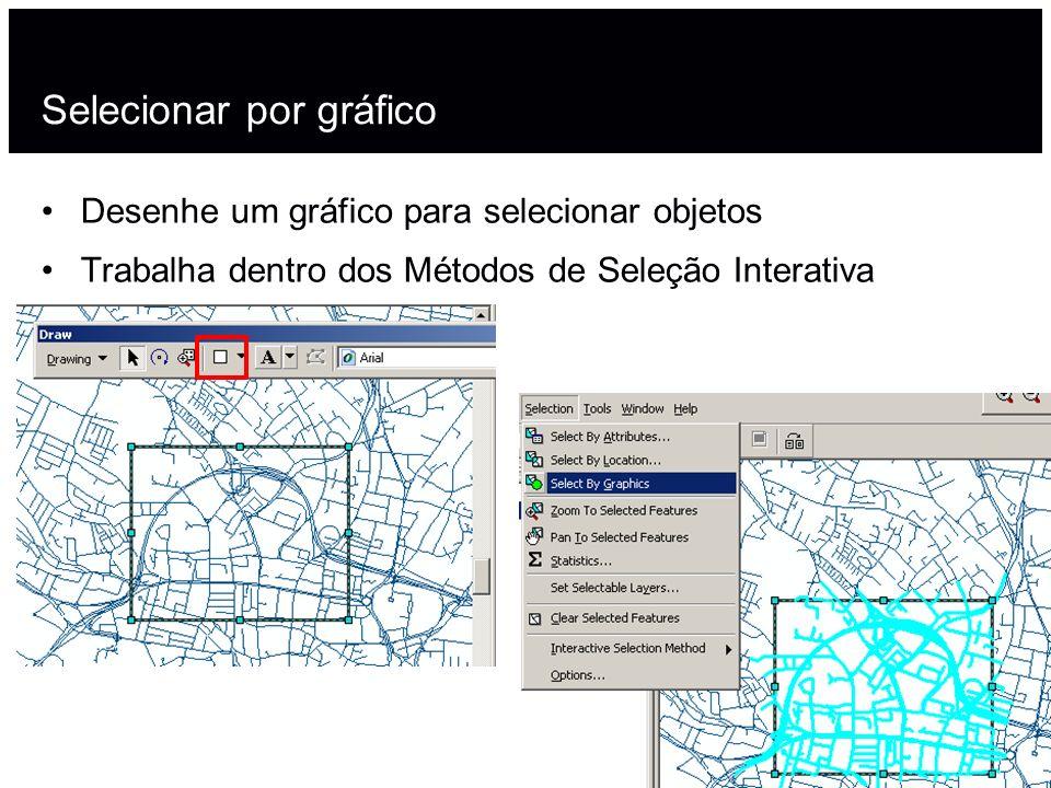 Selecionar por gráfico Desenhe um gráfico para selecionar objetos Trabalha dentro dos Métodos de Seleção Interativa