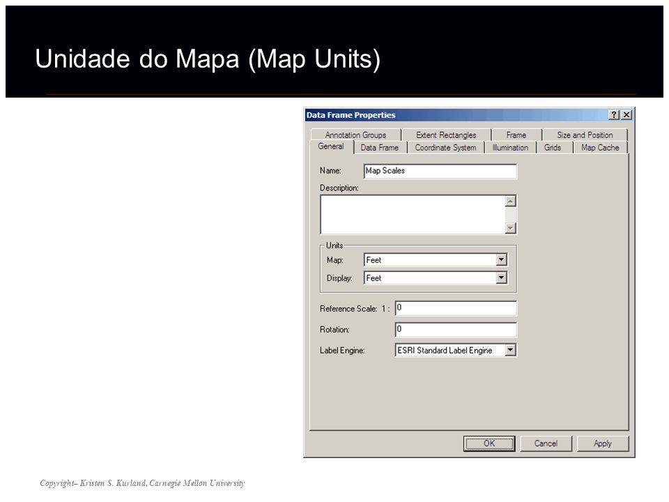 Unidade do Mapa (Map Units) Copyright– Kristen S. Kurland, Carnegie Mellon University