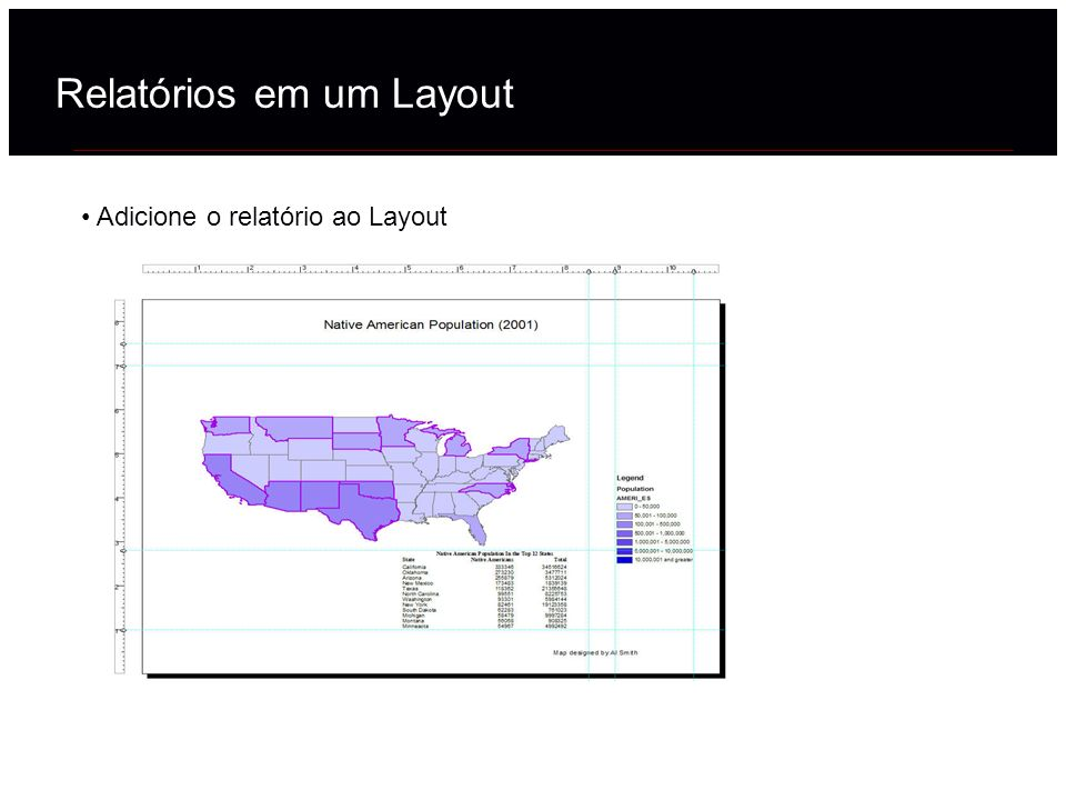 Adicione o relatório ao Layout Relatórios em um Layout