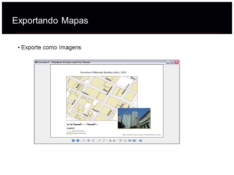 Exporte como Imagens Exportando Mapas