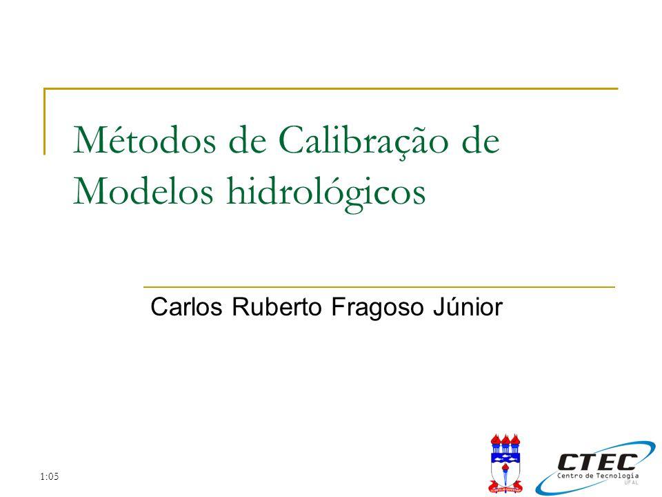 1:05 Métodos de Calibração de Modelos hidrológicos Carlos Ruberto Fragoso Júnior