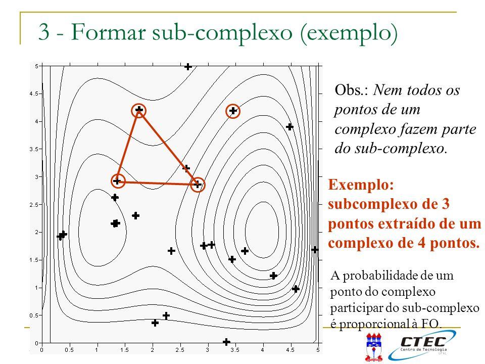 3:50 3 - Formar sub-complexo (exemplo) Obs.: Nem todos os pontos de um complexo fazem parte do sub-complexo. Exemplo: subcomplexo de 3 pontos extraído