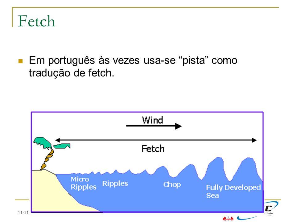 11:11 Fetch Em português às vezes usa-se pista como tradução de fetch.