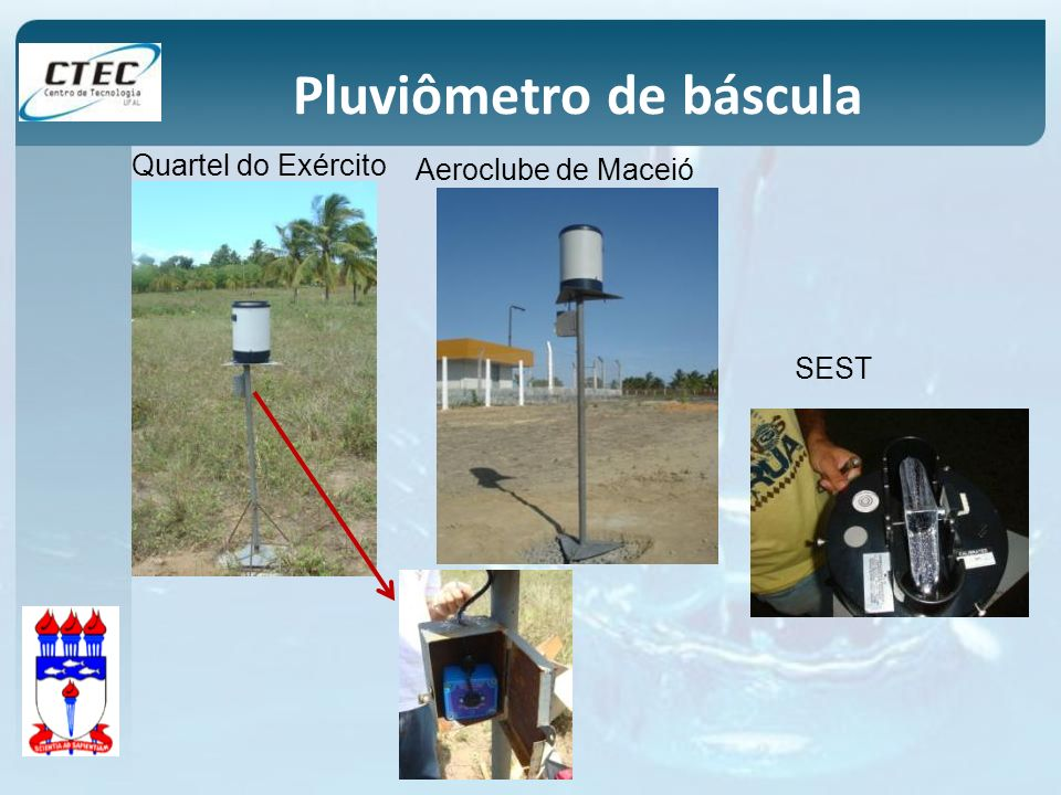 Aeroclube de Maceió Pluviômetro de báscula Quartel do Exército SEST