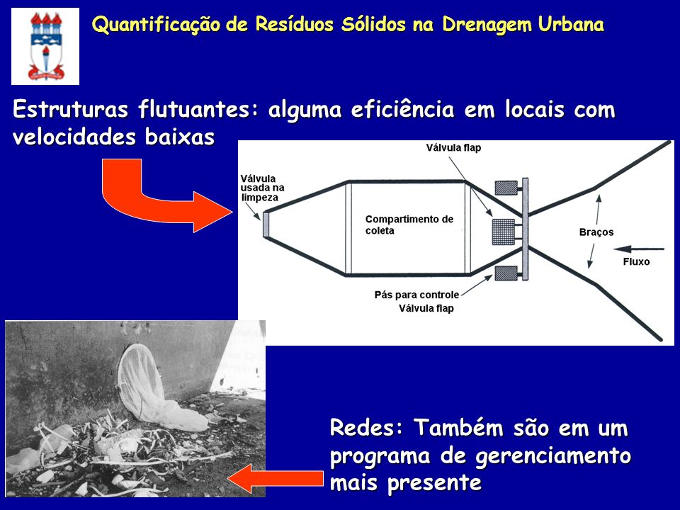 Estruturas flutuantes: alguma eficiência em locais com velocidades baixas Redes: Também são em um programa de gerenciamento mais presente Quantificaçã