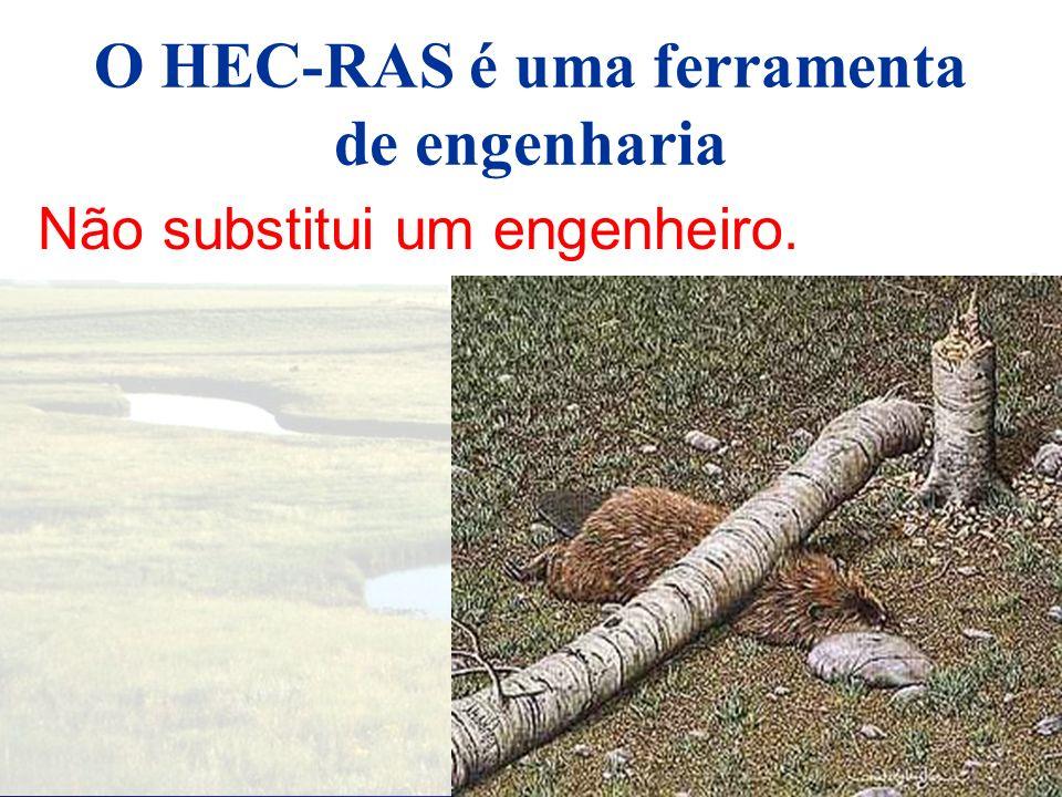 Onde procurar ajuda? Help on line HEC-RAS documentação HEC-RAS Suporte (email: hecrasteam@wcc.nrcs.usda.gov)