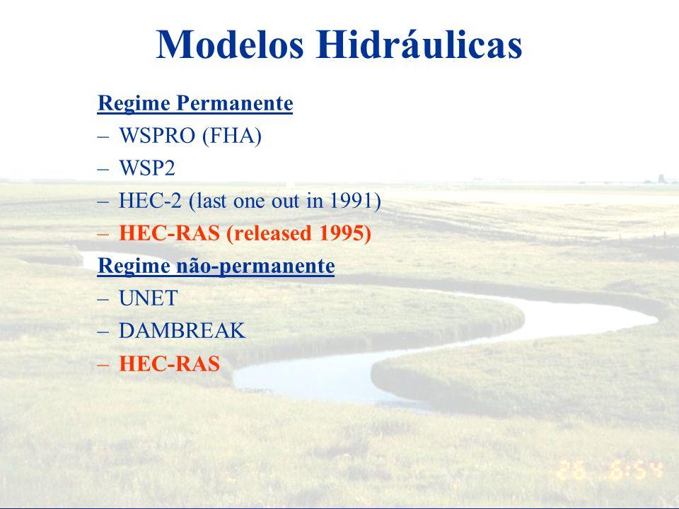 Modelos Hidráulicos: Por que é interessante? Medidas diretas: difícil, cara, perigosa Analíticas: preditivas