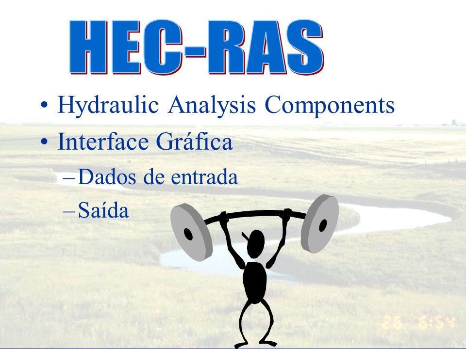 Vantagens do HEC-RAS Improved conveyance calculations. Escoamento misto - supercritico, subcritico Pontes – mais opções Bueiros – mais opções Junções