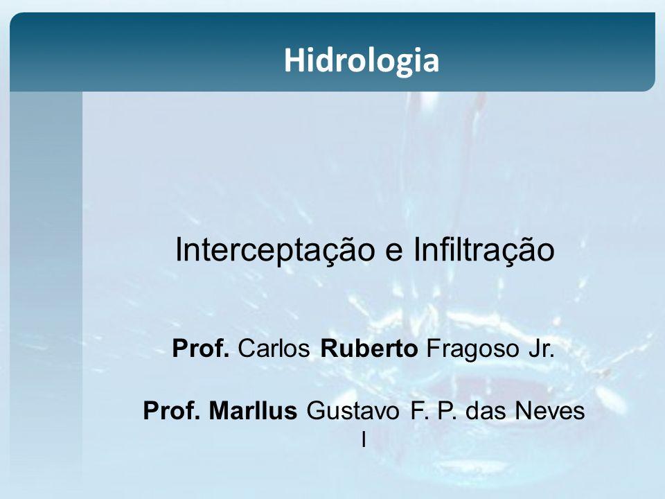 Interceptação e Infiltração Prof. Carlos Ruberto Fragoso Jr. Prof. Marllus Gustavo F. P. das Neves I Hidrologia