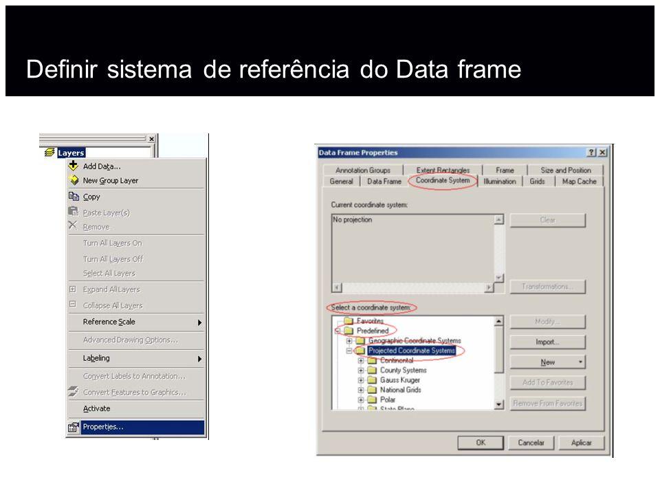 Definir sistema de referência do Data frame