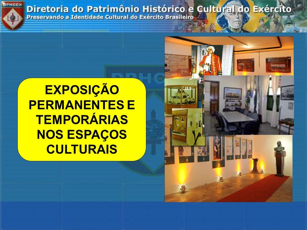 EXPOSIÇÃO PERMANENTES E TEMPORÁRIAS NOS ESPAÇOS CULTURAIS