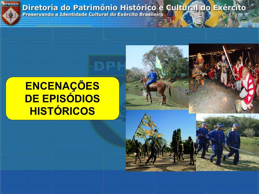 ENCENAÇÕES DE EPISÓDIOS HISTÓRICOS