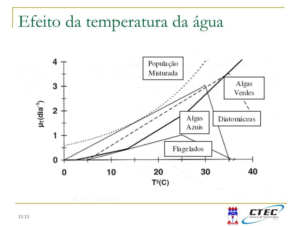 11:11 Efeito da temperatura da água