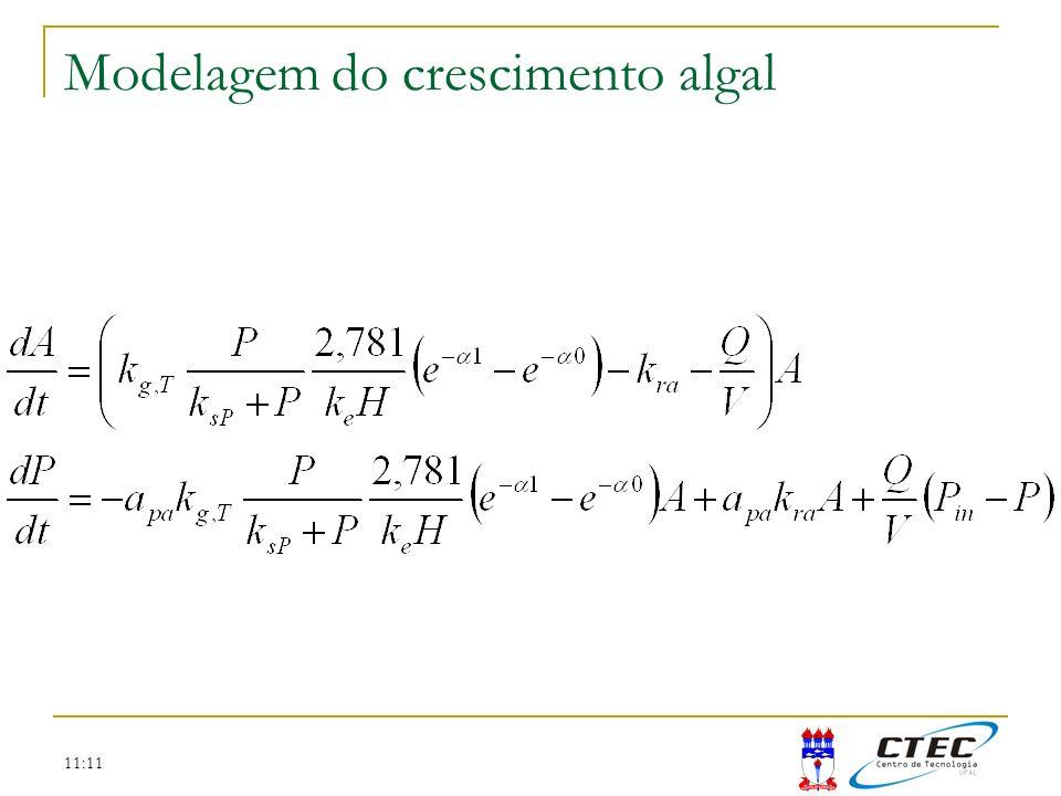 11:11 Modelagem do crescimento algal