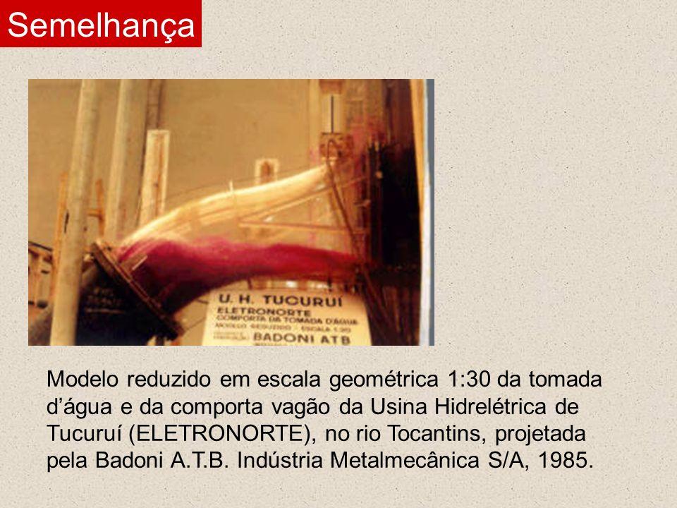 Modelo reduzido em escala geométrica da tomada dágua e da comporta vagão da Usina Hidrelétrica de Paulo Afonso IV (CHESF), no rio São Francisco, projetadas pela Ishikawajima do Brasil Estaleiros S/A, 1978.