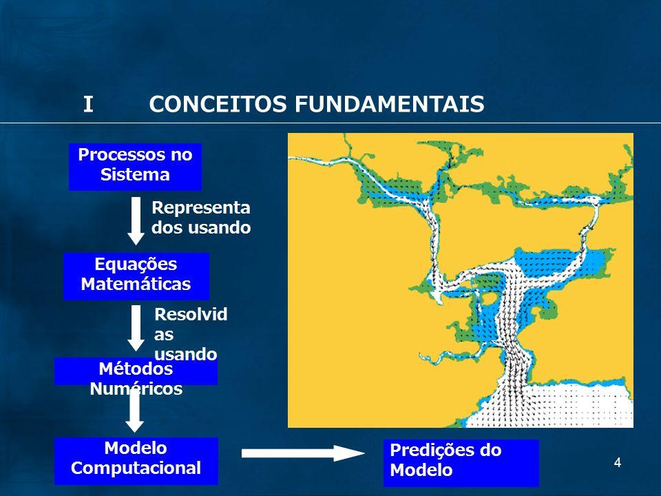 4 Processos no Sistema Equações Matemáticas Métodos Numéricos Predições do Modelo Representa dos usando Resolvid as usando Modelo Computacional ICONCEITOS FUNDAMENTAIS