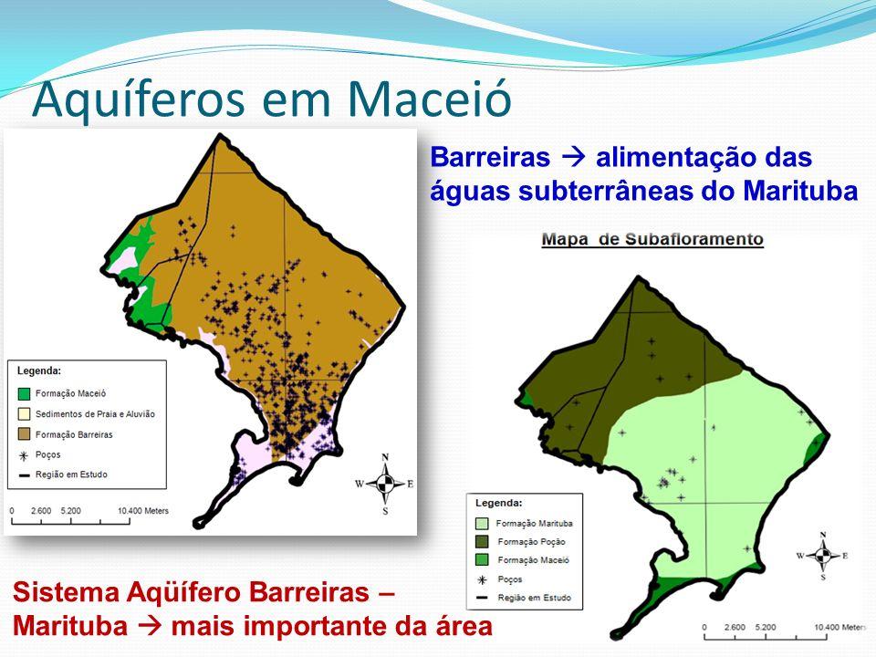Barreiras alimentação das águas subterrâneas do Marituba Sistema Aqüífero Barreiras – Marituba mais importante da área