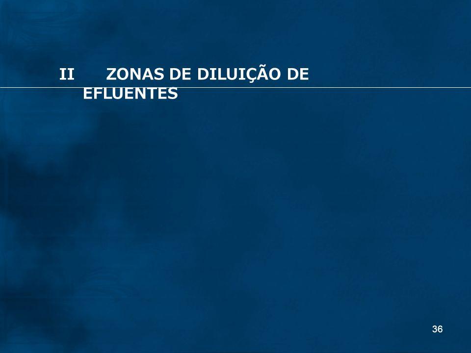36 IIZONAS DE DILUIÇÃO DE EFLUENTES